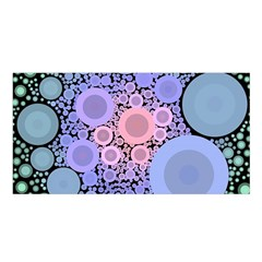 An Abstract Background Consisting Of Pastel Colored Circle Satin Shawl