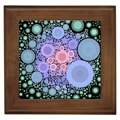 An Abstract Background Consisting Of Pastel Colored Circle Framed Tiles
