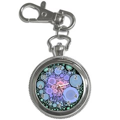An Abstract Background Consisting Of Pastel Colored Circle Key Chain Watches