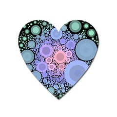 An Abstract Background Consisting Of Pastel Colored Circle Heart Magnet