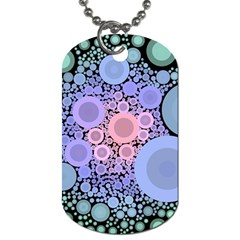 An Abstract Background Consisting Of Pastel Colored Circle Dog Tag (one Side)