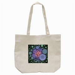 An Abstract Background Consisting Of Pastel Colored Circle Tote Bag (Cream)