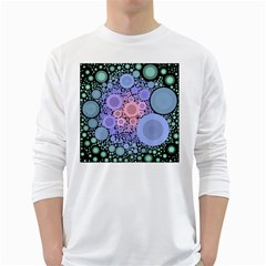 An Abstract Background Consisting Of Pastel Colored Circle White Long Sleeve T Shirts