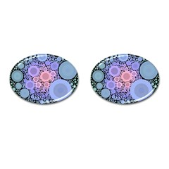 An Abstract Background Consisting Of Pastel Colored Circle Cufflinks (oval)