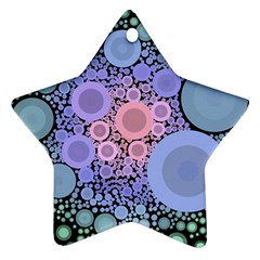 An Abstract Background Consisting Of Pastel Colored Circle Star Ornament (two Sides)
