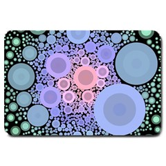 An Abstract Background Consisting Of Pastel Colored Circle Large Doormat