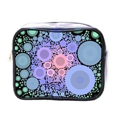 An Abstract Background Consisting Of Pastel Colored Circle Mini Toiletries Bags