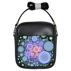 An Abstract Background Consisting Of Pastel Colored Circle Girls Sling Bags