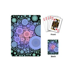 An Abstract Background Consisting Of Pastel Colored Circle Playing Cards (mini)