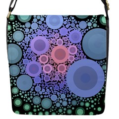 An Abstract Background Consisting Of Pastel Colored Circle Flap Messenger Bag (S)