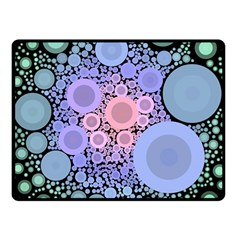 An Abstract Background Consisting Of Pastel Colored Circle Double Sided Fleece Blanket (Small)