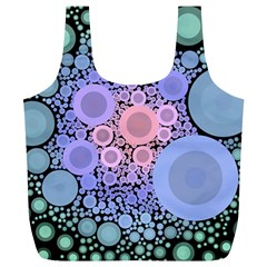 An Abstract Background Consisting Of Pastel Colored Circle Full Print Recycle Bags (L)