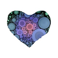 An Abstract Background Consisting Of Pastel Colored Circle Standard 16  Premium Flano Heart Shape Cushions