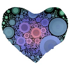 An Abstract Background Consisting Of Pastel Colored Circle Large 19  Premium Flano Heart Shape Cushions
