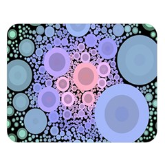 An Abstract Background Consisting Of Pastel Colored Circle Double Sided Flano Blanket (Large)