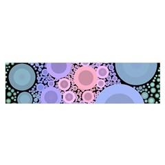 An Abstract Background Consisting Of Pastel Colored Circle Satin Scarf (oblong)