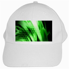 Abstract Background Green White Cap