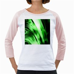 Abstract Background Green Girly Raglans