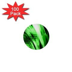 Abstract Background Green 1  Mini Buttons (100 pack)