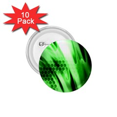Abstract Background Green 1 75  Buttons (10 Pack)