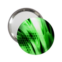 Abstract Background Green 2.25  Handbag Mirrors