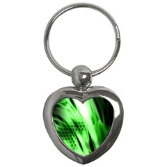Abstract Background Green Key Chains (Heart)