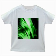 Abstract Background Green Kids White T-Shirts