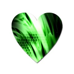 Abstract Background Green Heart Magnet