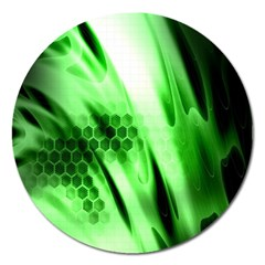 Abstract Background Green Magnet 5  (round)