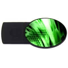 Abstract Background Green USB Flash Drive Oval (1 GB)