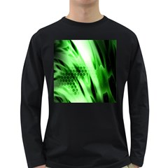 Abstract Background Green Long Sleeve Dark T Shirts