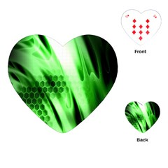 Abstract Background Green Playing Cards (heart)
