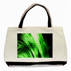 Abstract Background Green Basic Tote Bag