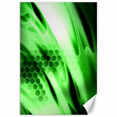 Abstract Background Green Canvas 12  X 18