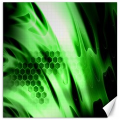 Abstract Background Green Canvas 20  X 20