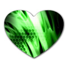 Abstract Background Green Heart Mousepads