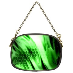 Abstract Background Green Chain Purses (two Sides)