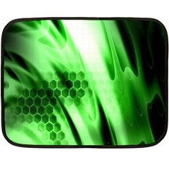Abstract Background Green Double Sided Fleece Blanket (mini)