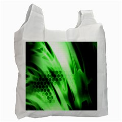 Abstract Background Green Recycle Bag (two Side)