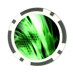 Abstract Background Green Poker Chip Card Guard (10 Pack)