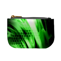 Abstract Background Green Mini Coin Purses