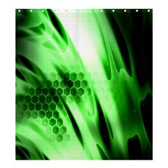 Abstract Background Green Shower Curtain 66  X 72  (large)