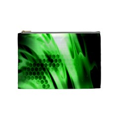 Abstract Background Green Cosmetic Bag (medium)