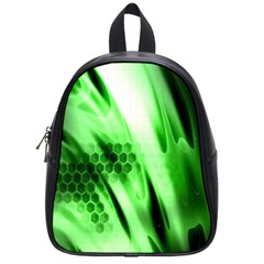Abstract Background Green School Bags (small)