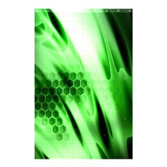 Abstract Background Green Shower Curtain 48  X 72  (small)