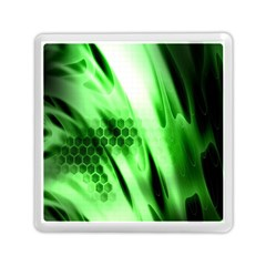 Abstract Background Green Memory Card Reader (square)