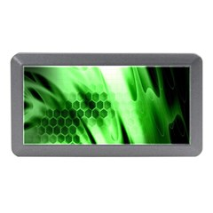 Abstract Background Green Memory Card Reader (mini)