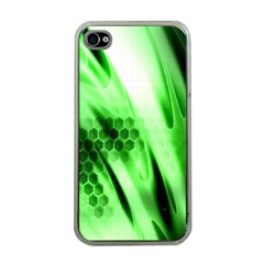 Abstract Background Green Apple iPhone 4 Case (Clear)