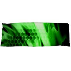 Abstract Background Green Body Pillow Case (Dakimakura)
