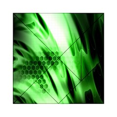 Abstract Background Green Acrylic Tangram Puzzle (6  x 6 )